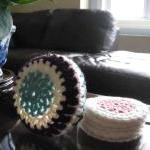 Set of 6 cup coasters with ..