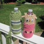 Crochet Water Bottle Cozy -..