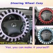 Crochet Pattern - Steering Wheel Cozy/Cover (12VC2012)